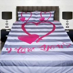 3D луксозен спален комплект Lovers