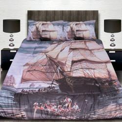 3D луксозен детски спален комплект Ship