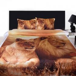3D луксозен спален комплект с Лъвове