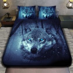 3D луксозен спален комплект Вълк единак