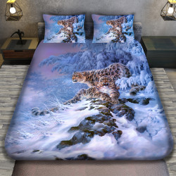 3D луксозен спален комплект Леопард
