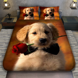 3D луксозен спален комплект Лабрадор