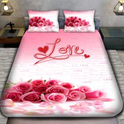 3D луксозен спален комплект принт LOVE