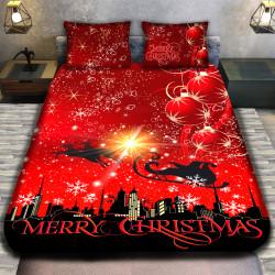 3D луксозен спален комплект SANTA CLAUS