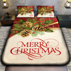 3D луксозен спален комплект MERRY CHRISTMAS BRANCH