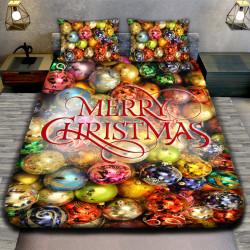 3D луксозен спален комплект MERRY CHRISTMAS BALL