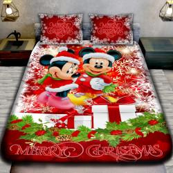 3D луксозен  спален комплект MERRY CHRISTMAS MAUS REGALLO