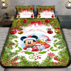 3D луксозен  спален комплект MERRY CHRISTMAS MAUS