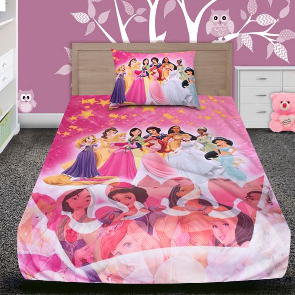 3D луксозен детски спален комплект Pink Princess