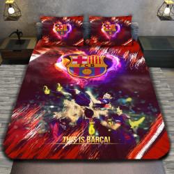 3D луксозен спален комплект FC Barcelona