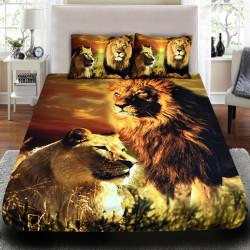3D луксозен спален комплект Lions