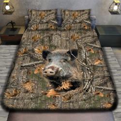3D луксозен спален комплект Wild boar