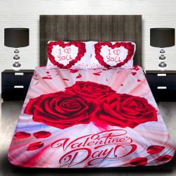 "3D луксозен спален комплект ""Valentines Day"""
