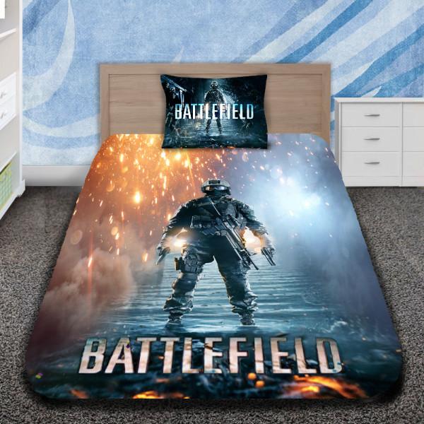 3D луксозен спален комплект Battlefield