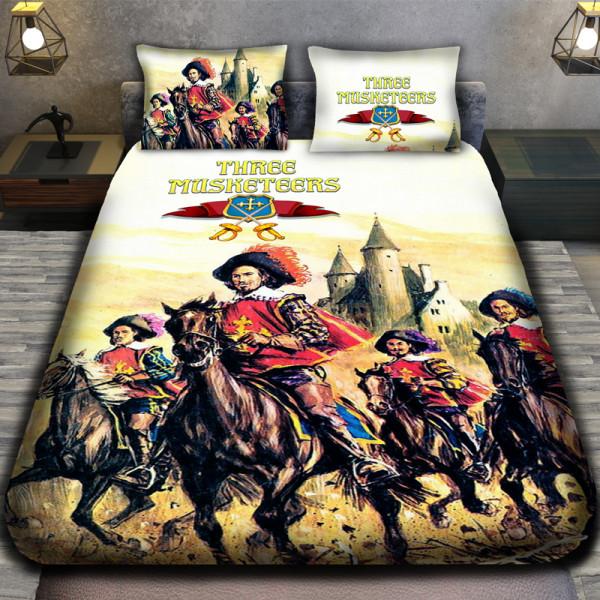 3D луксозен детски спален комлект Тримата Мускeтари