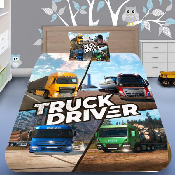 3D луксозен спален комплект Truck Driver