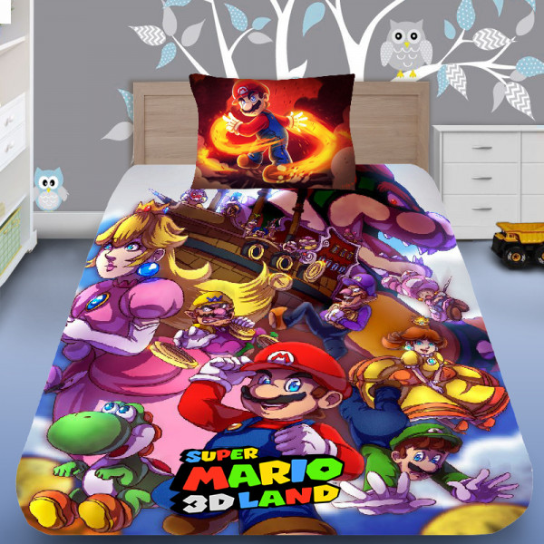 3D луксозен спален комплект Super Mario