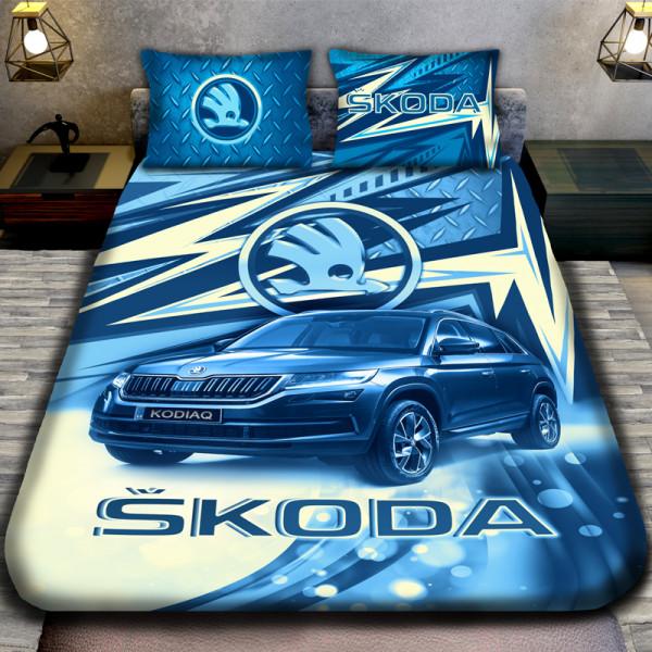 3D луксозен спален комплект SKODA BLU
