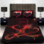 """3D луксозен спален комплект за влюбени""""I LOVE YOU"""""""