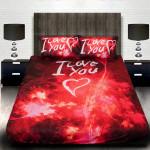 3D луксозен спален комплект I LOVE YOU