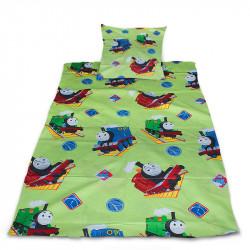 Комплект от спално бельо за бебе Влакче