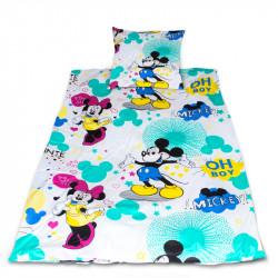 Комплект от спално бельо за бебе Мики и Мини