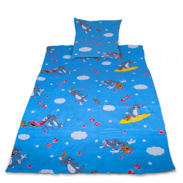 Комплект от спално бельо за бебе Blue Tom & Jerry
