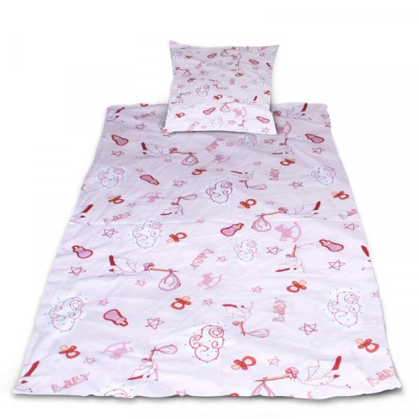 Комплект от спално бельо за бебе Щъркели