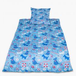 Комплект от спално бельо за бебе Морски мотиви