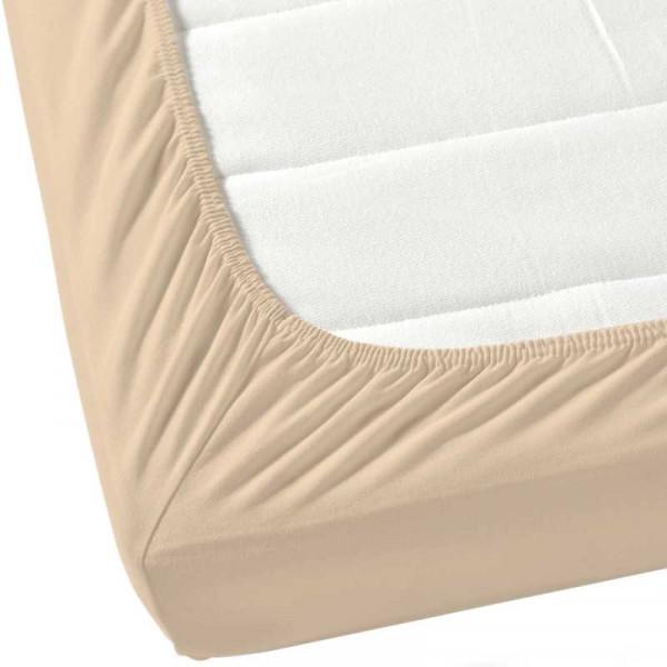 Долен чаршаф с ластик от ранфорс цвят екрю
