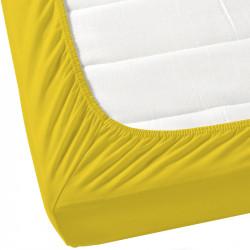 Жълт чаршаф с ластик от ранфорс