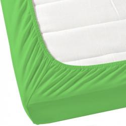 Зелен чаршаф с ластик от ранфорс
