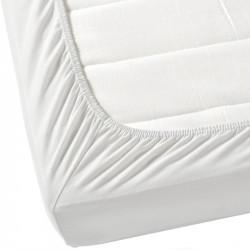 Бял чаршаф с ластик от ранфорс