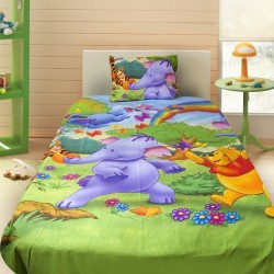 3D луксозен детски спален комплект Winnie The Pooh Rainbow