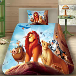 3D луксозен детски спален комплект с The Lion King