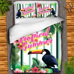3D луксозен детски спален комплект ''Tropical summer''