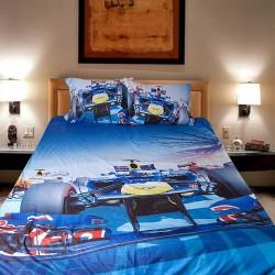 3D луксозен детски спален комплект с Formula 1
