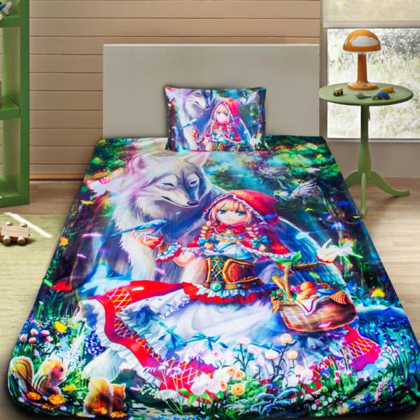 3D луксозен детски спален комплект Red Riding Hood