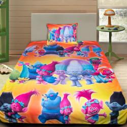 3D луксозен детски спален комплект Тролчетата 2