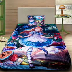 3D луксозен детски спален комплект Алиса в страната на чудесата