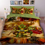 3D детски спален комлект Костенурките Нинджа