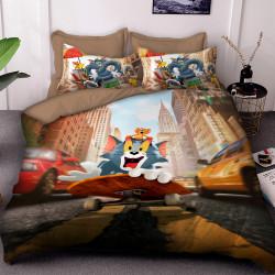 3D детски спален комлект Том и Джери