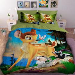 3D детски спален комлект Сърничката Бамби и приятели