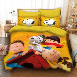 3D детски спален комлект с куче Снупи