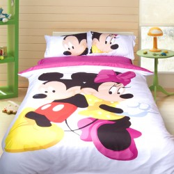 3D луксозен детски спален комплект Micky and Minnie Mouse