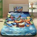 3D луксозен детски спален комплект Winnie The Pooh