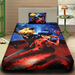 3D луксозен детски спален комплект Ladybug And Cat Noir
