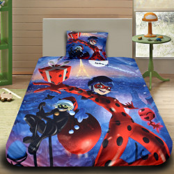 3D луксозен детски спален комплект MERRY CHRISTMAS CHAT NOIR