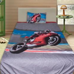 3D луксозен детски спален комплект Speed Bike