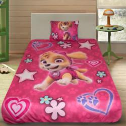 3D луксозен детски спален комплект Paw Patrol Pink